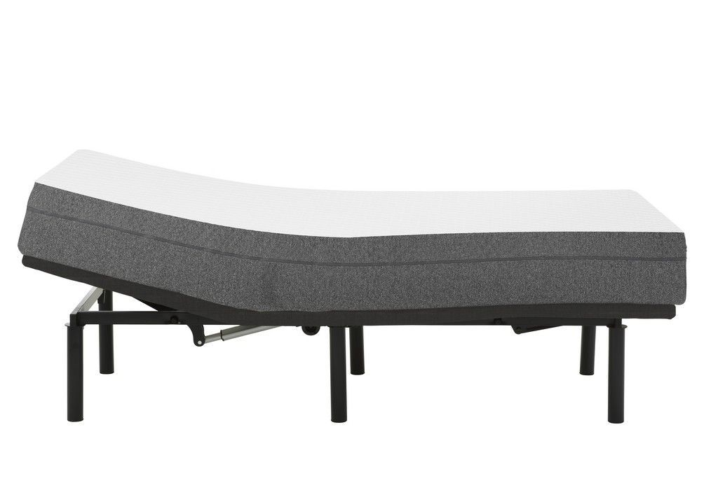 """8"""" Firm Gel Infused Twin Long Memory Foam Mattress and Model G Adjustable Bed Base"""